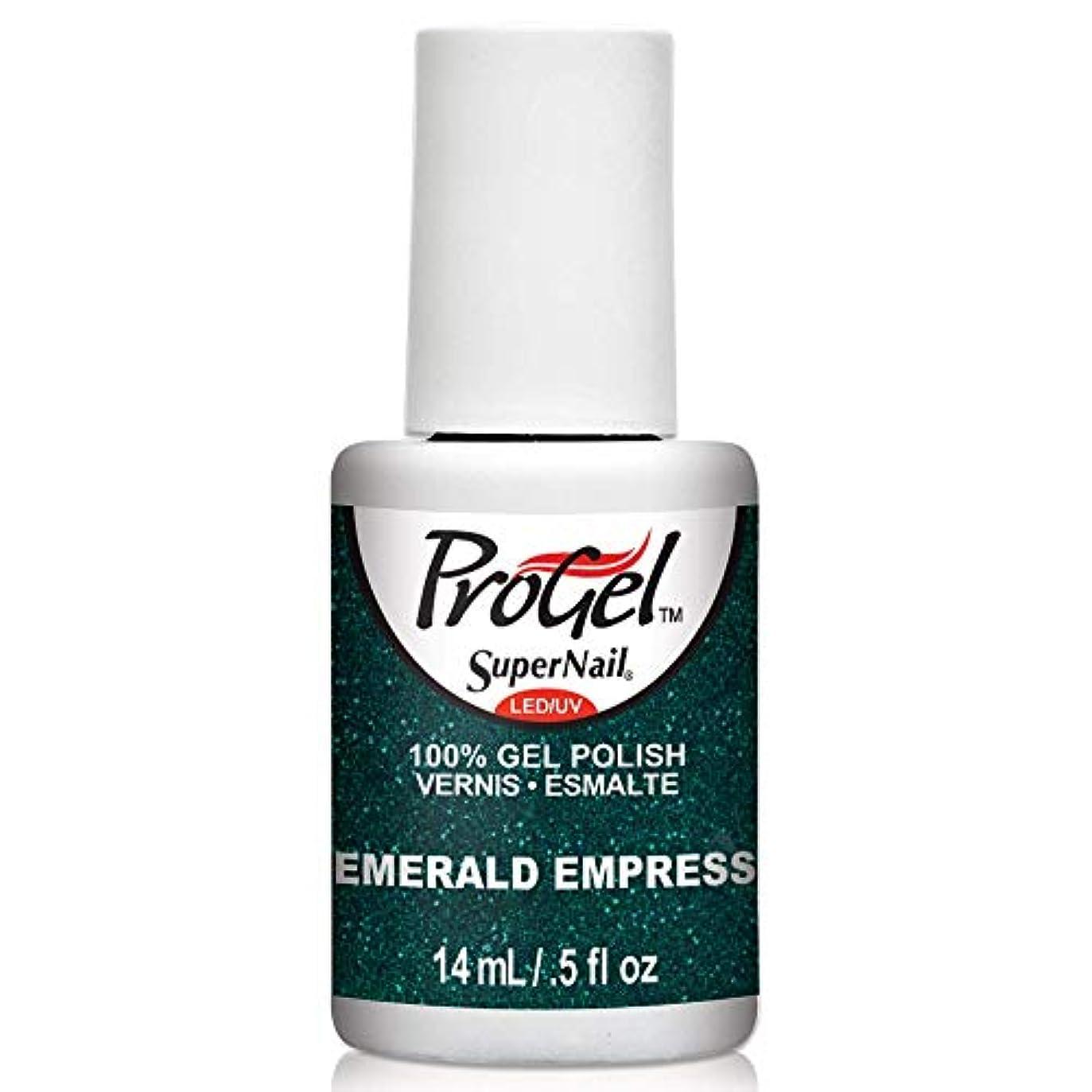 リラックスに関して権限を与えるSuperNail ProGel Gel Polish - Emerald Empress - 0.5oz/14ml