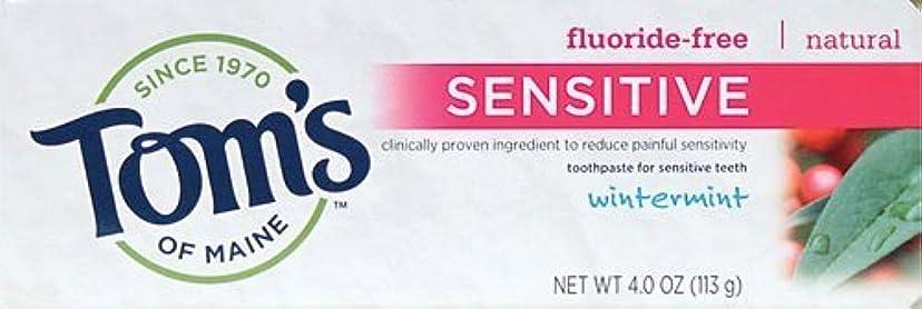 起きている悲劇的な季節Tom's of Maine Toothpaste, Sensitive, Wintermint, 4 oz by Tom's of Maine
