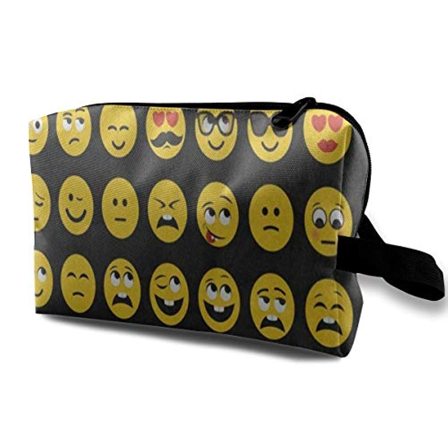 容量パケットクロール面白い笑顔 ポーチ 旅行 化粧ポーチ 防水 収納ポーチ コスメポーチ 軽量 トラベルポーチ25cm×16cm×12cm