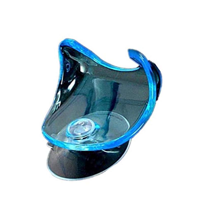 受取人拒絶形容詞ハンギングラッククリアストレージシェルフの浴室の吸盤サクションカップカミソリホルダー