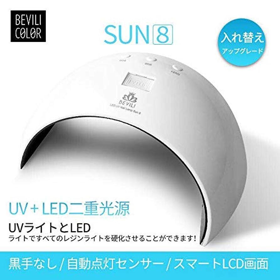UV LEDネイルドライヤー 人感センサー UVライト24W 180度照射 Laintran 三つタイマー設定可能 UV と LEDダブルライト ジェルネイル用 ホワイト (24W) (ホワイト)