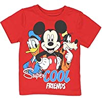 Disney Mickey Mouse Clubhouse Boys Short Sleeve Tee (2T Red)