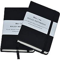 メモ帳 ノートブック 2冊セット 192ページ 140×89mm PUハードカバー ビジネスパーソン 学生 デイリーユースに