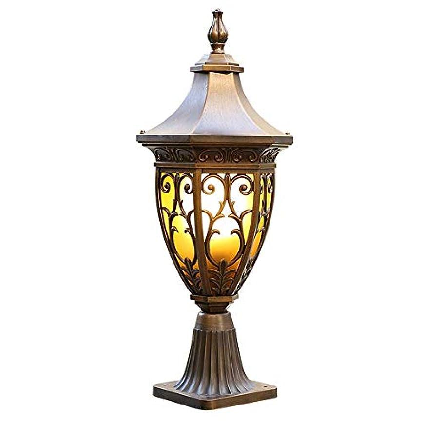 殺します逃げる出来事Pinjeer ポストライトヨーロッパの伝統的なe27ヴィンテージ庭黄色いガラスランタンip42防水屋外アンティークダイカストアルミ柱ライトドア芝生ストリートコミュニティ装飾コラムランプ