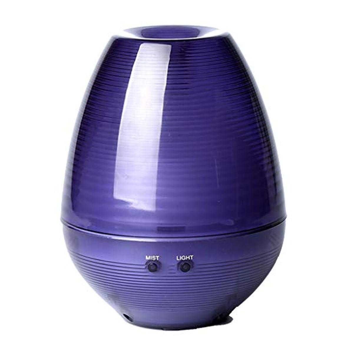 ヶ月目複雑な鉱石アロマセラピーエッセンシャルオイルディフューザー、アロマディフューザークールミスト加湿器ウォーターレスオートシャットオフホームオフィス用ヨガ (Color : Purple)