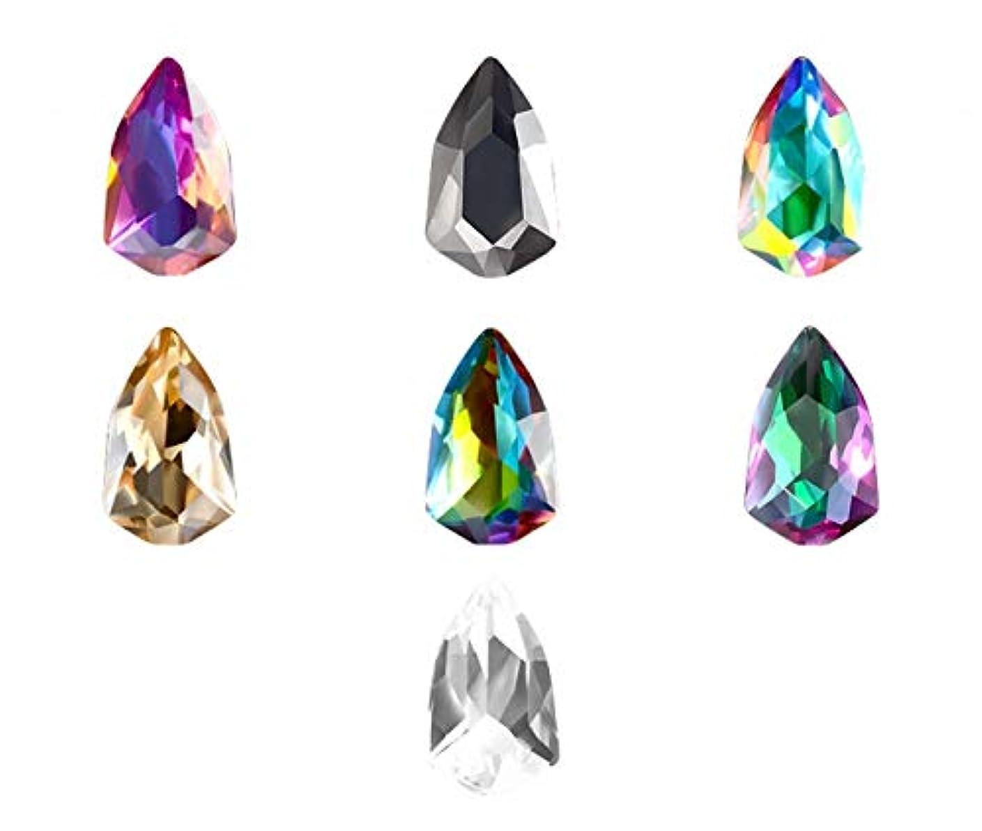 賛美歌ランダムありふれたTianmey 3D宝石マニキュア装飾のためのアートDIYクリスタルラインストーンミラーストーンネイル