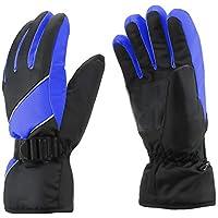 AYORI スキー手袋 スキーグローブ 防水 防風 保温 紛失防止 滑り止め 調整できるベルト付き