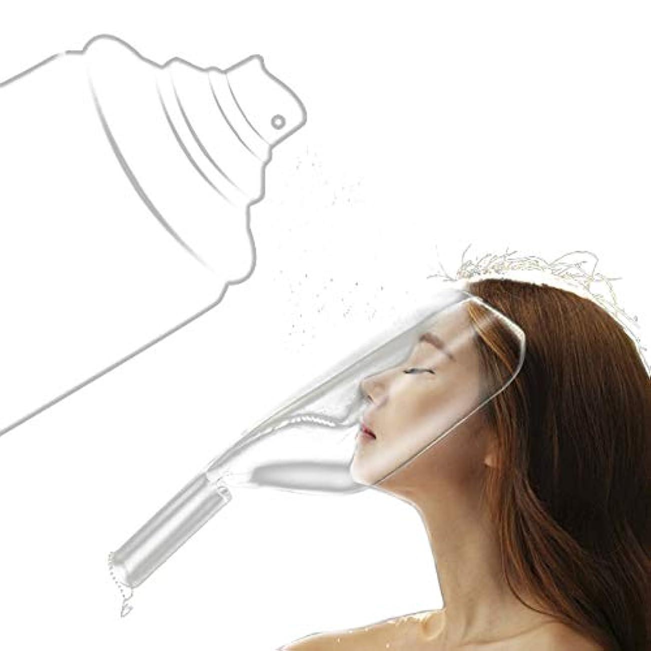 分析的はい検出ZHER-LU 散髪 フェイスカバー ヘアスプレーマスク フェイスガード スプレーシールド 美容院ヘアスプレーマスクシールド 理髪サロン 1ピース (ホワイト)