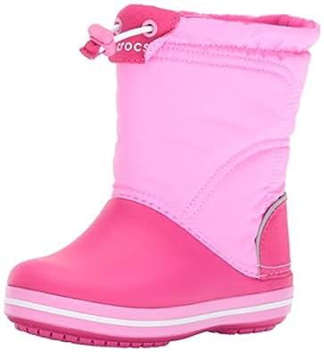 [クロックス] ブーツ クロックバンド ロッジポイント キッズ 203509 Candy Pink/Party Pink 14 cm