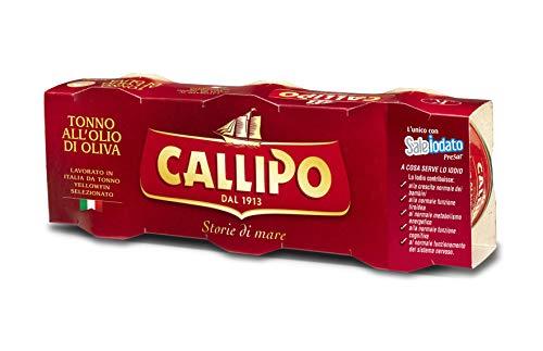 カリッポ トンノ (ツナ) オリーブオイル漬け 80g×3缶パック