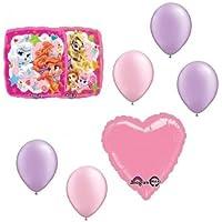 loonballoonディズニーPalace Petsプリンセス7 pc誕生日パーティーマイラーラテックスバルーンブーケセット