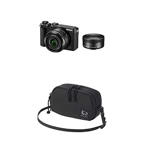 Nikon ミラーレス一眼 Nikon1 J5 ダブルレンズキット ブラック J5WLKBK + スマホも入るマルチポーチセット