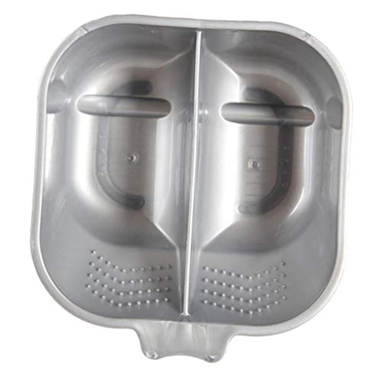 指導する湿度取得するヘアカラーボウル ヘアカラーリング用品 ヘアカラープレート 毛染め 染料 混ぜる サロン プロ用品 - 銀