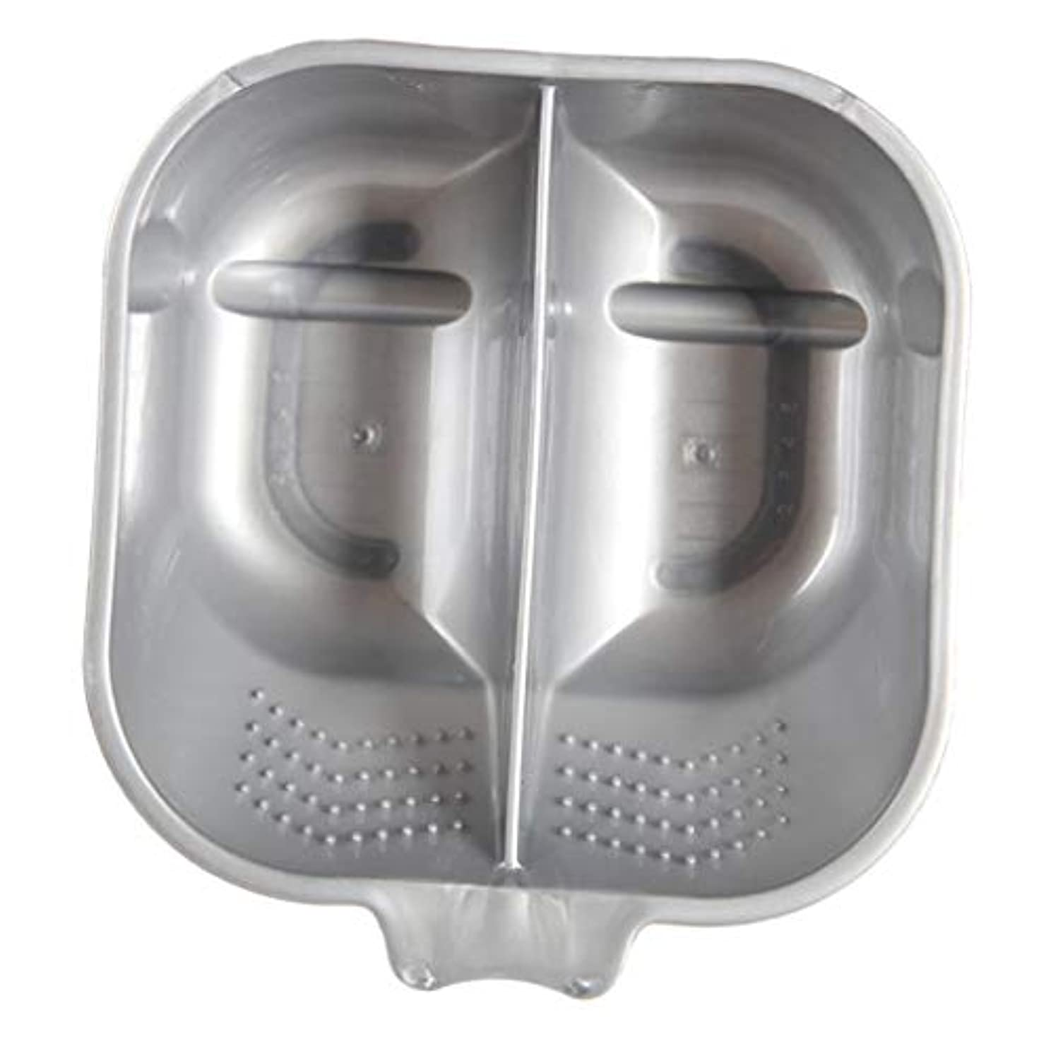 キャッチ鳴らすサンプルヘアカラーボウル ヘアカラーリング用品 ヘアカラープレート 毛染め 染料 混ぜる サロン プロ用品 - 銀
