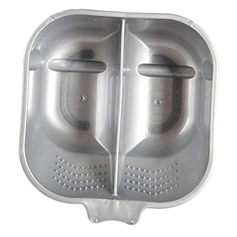死の顎別にもっと少なくヘアカラーボウル ヘアカラーリング用品 ヘアカラープレート 毛染め 染料 混ぜる サロン プロ用品 - 銀