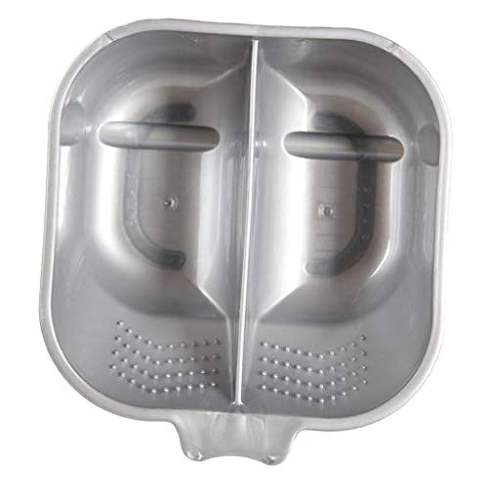 ボンド雨の同封するヘアカラーボウル ヘアカラーリング用品 ヘアカラープレート 毛染め 染料 混ぜる サロン プロ用品 - 銀