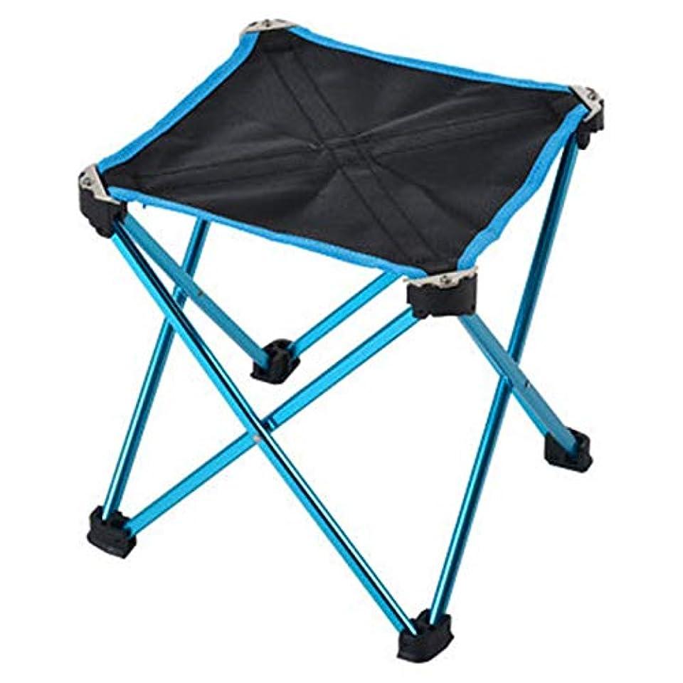 六月作動する精神JVSISM アウトドアスポーツとキャンプの折りたたみ椅子、7075アルミニウム、折りたたみ式釣り用椅子、超軽量、ポータブル、ミニシート、レジャー、アウトドアのチェア、特大、青色