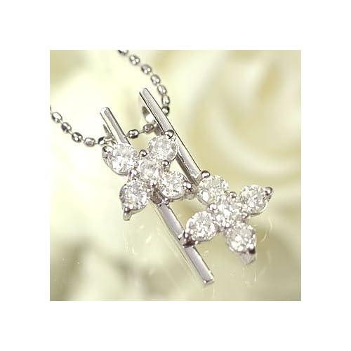 [キュートジュエリー]Cute jewerly ダイヤモンド ペンダント ネックレス プラチナ ダイヤモンド0.5ct アニバーサリー10ペンダント