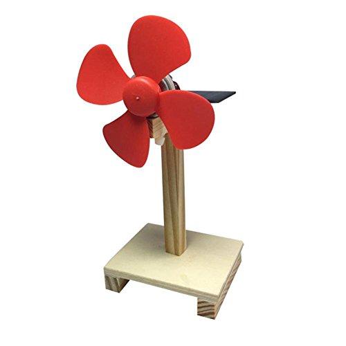 Domybest 扇風機玩具 太陽エネルギー 風車 科学実験...
