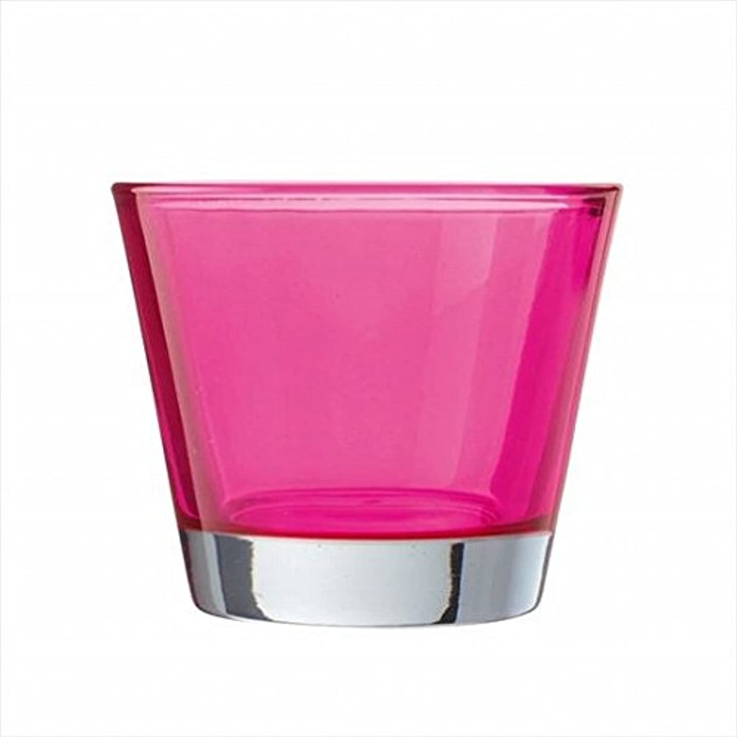 脈拍軍隊運賃kameyama candle(カメヤマキャンドル) カラリス 「 ピンク 」 キャンドル 82x82x70mm (J2540000PK)