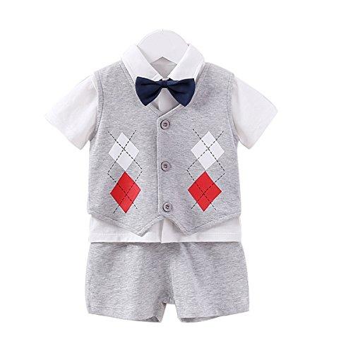 342d8d04832e8 Baby エルフ ベビー(Fairy Baby) ベビーフォーマル 男の子スーツ半袖 ベスト付き 発表会