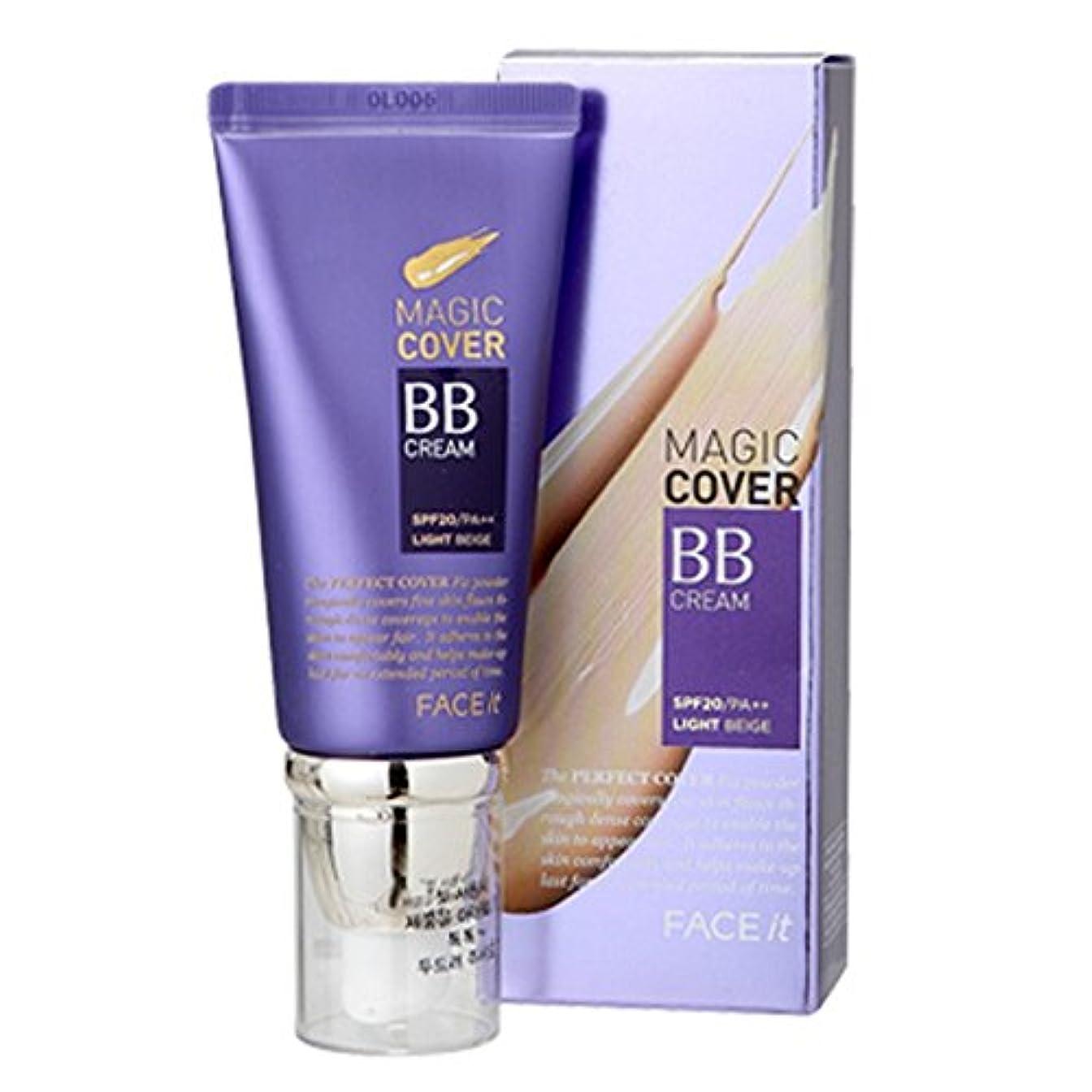 囲いソーシャル見えるザフェイスショップ The Face Shop Face It Magic Cover BB Cream 45ml (01 Light Beige)