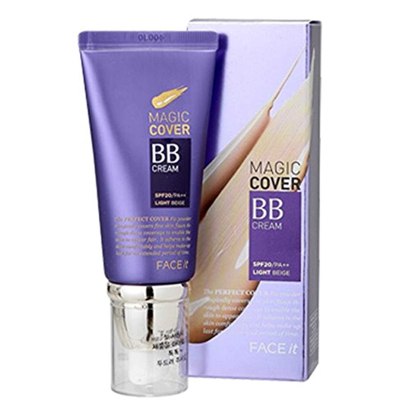 帰るキャメルアノイザフェイスショップ The Face Shop Face It Magic Cover BB Cream 45ml (01 Light Beige)