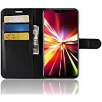 Huawei mate 20 Lite 手帳型 ケース mate 20 Lite PU 手帳型 ケース カード収納あり スタンド機能付き 耐衝撃 全面保護カバー ダーク ブラック
