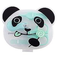 (POMAIKAI) ベビー 爪切り ハサミ 爪やすり ピンセット 新生児から ネイルケア セット (グリーン)
