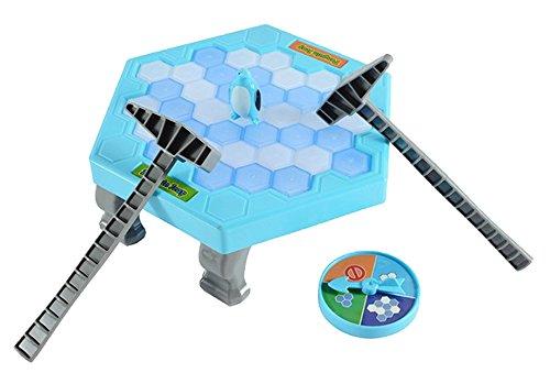 テーブルパズルゲーム保存ペンギンバランスKnockアイスキューブInteractiveブロックパーティーゲームfor 2–4プレーヤー