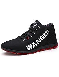Phefee スニーカー メンズ ブーツ 保温 靴 ファー付き レイン シューズ 防寒 防水 防滑 アウトドア スノーブーツ 雪靴