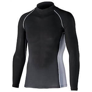 おたふく手袋 ボディータフネス 冷感・消臭 パワーストレッチ 長袖ハイネックシャツ JW-625 ブラック 3L