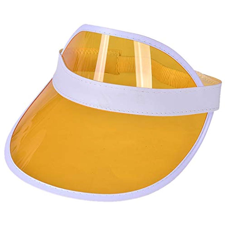 褒賞テクニカル囚人レディースクリアハット帽子レインバイザー UVカットユニセックスアウトドア野球帽帽子