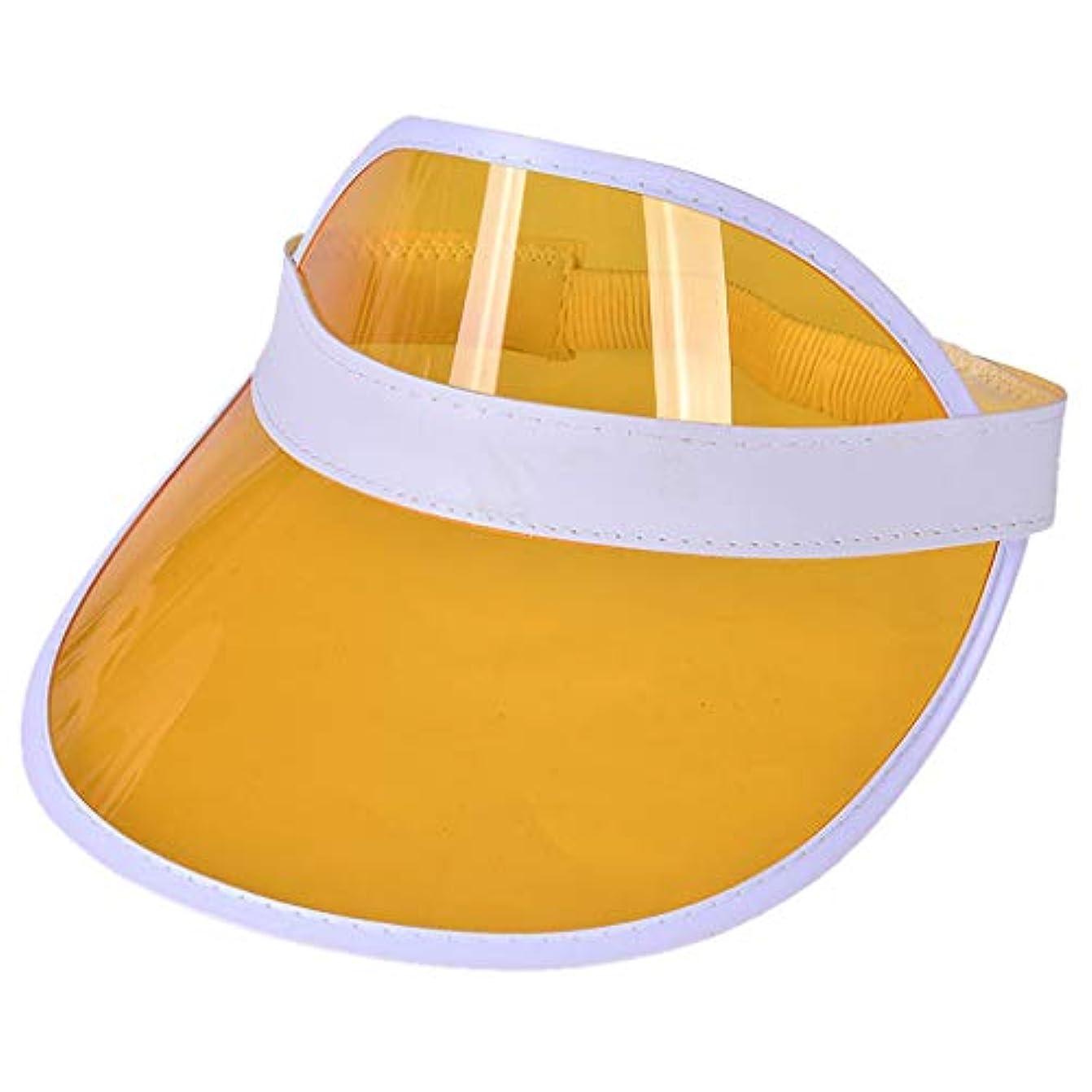 クッション馬鹿げた建設レディースクリアハット帽子レインバイザー UVカットユニセックスアウトドア野球帽帽子