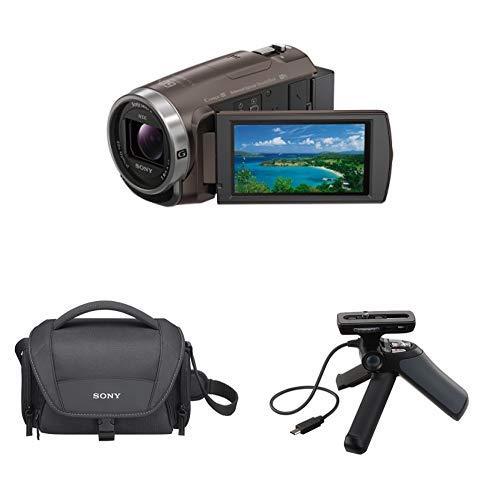 ソニー SONY ビデオカメラ Handycam 光学30倍 内蔵メモリー64GB ブロンズブラウンHDR-CX680 TI + ショルダーバッグ  ソフトキャリングケース LCS-U21 BC SYH + 三脚機能付きシューティンググリップ GP-VPT1 C