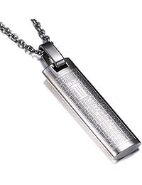 ARMA プレートネックレス プレート 刻印 ゴールド シルバー 金 銀 メンズ チェーン ネックレス ブランド ステンレス バー (シルバー)