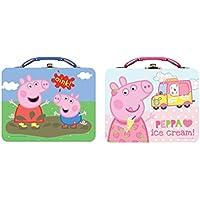 [ペッパピッグ]Peppa Pig Large Carry All Lunch Tin Box Set 2 Tins [並行輸入品]