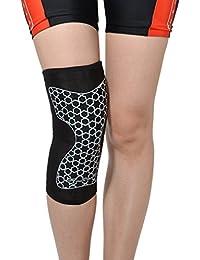 膝サポーター スポーツ サイクリング ジョギング ブラック 1個入り ROCKBROS(ロックブロス)