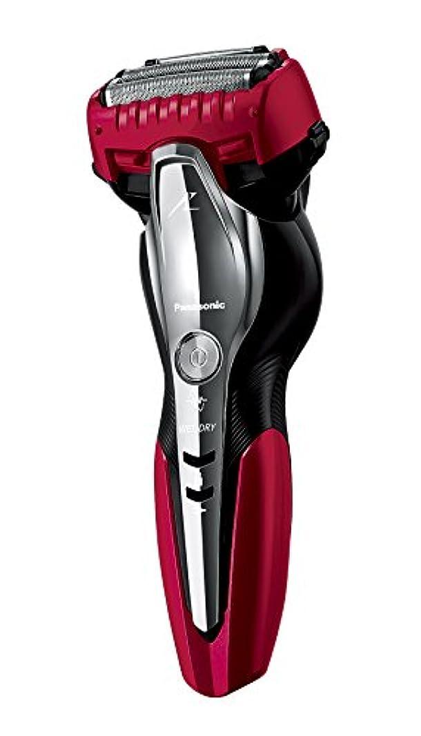 常識噴水ぼかしパナソニック ラムダッシュ メンズシェーバー 3枚刃 お風呂剃り可 赤 ES-ST8N-R