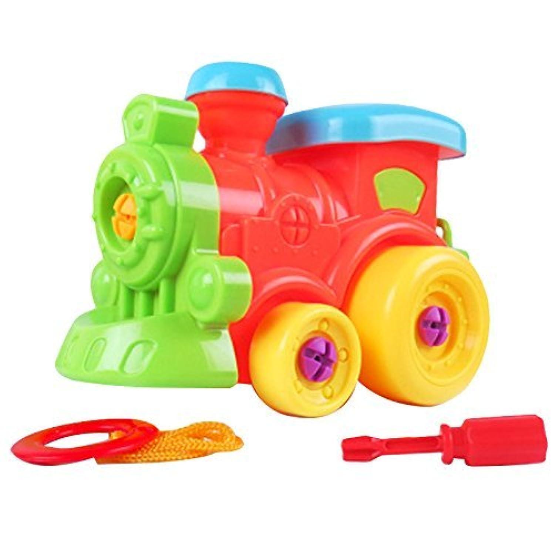 Linshop ファンシー分解トラック小型電車ヘッドアセンブリのネジを取り外し可能なおもちゃ赤ちゃんおもちゃの1~3歳まで