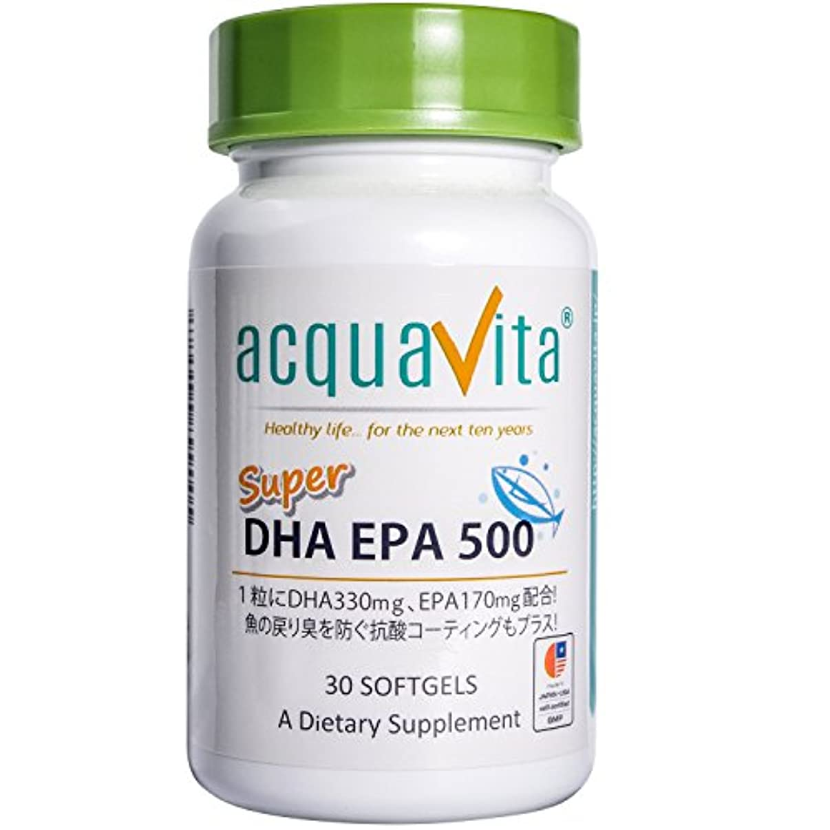 ほめる内側ハリケーンacquavita(アクアヴィータ) スーパーDHAEPA500 30粒