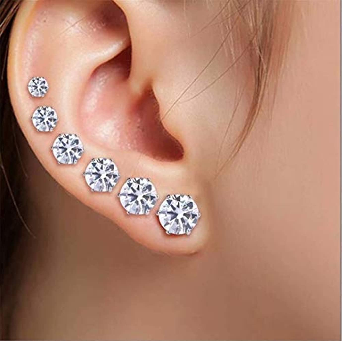 型足首形式七里の香 自由奔放に生きるクリスタル 耳カフ耳スタッドピアス女性のための小さな登山耳骨ピアスイヤリング