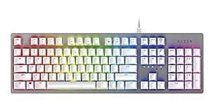Razer Huntsman Mercury White ゲーミングキーボード ホワイト オプト・メカニカル軸 英語US配列 RGB 【日本正規代理店保証品】 RZ03-02521900-R3M1