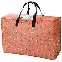 2PCS厚いオックスフォード布の収納袋大容量折り畳み式旅行の主催者荷物の防湿ワードローブ衣服の仕上げの整理キルトの羽毛移動ストレージバッグ2個/セット (サイズ さいず : 58 * 40 * 25cm)