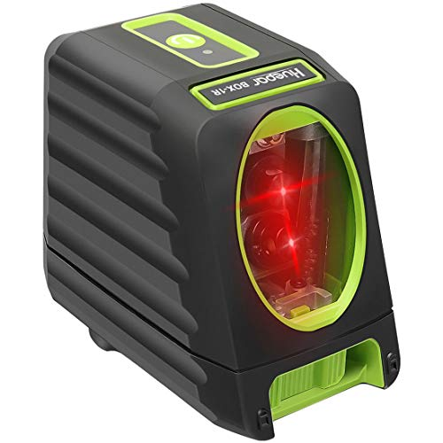 Huepar 2ライン レッド レーザー墨出し器 赤色 クロスラインレーザー 自動水平調整機能 高輝度 ライン出射角130°&150° ミニ型