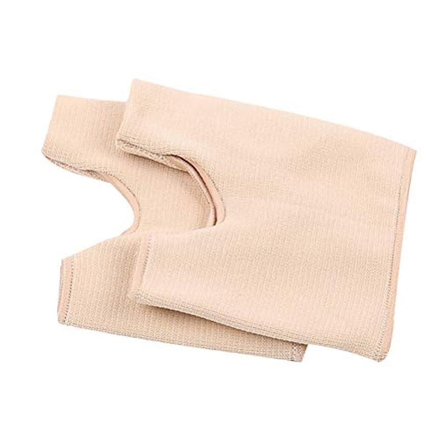 腐食するキーカーペット伸縮性のある腱膜プロテクター親指矯正靴下親指腱膜スリーブつま先スプレッダー(アプリコット色)
