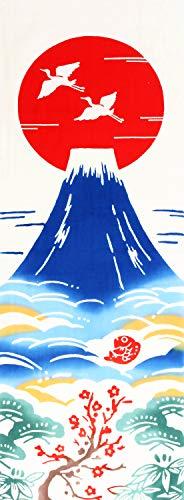 Airashika(あいらしか) 和雑貨 注染手ぬぐい『縁起』 初日の出 富士山 33×90cm