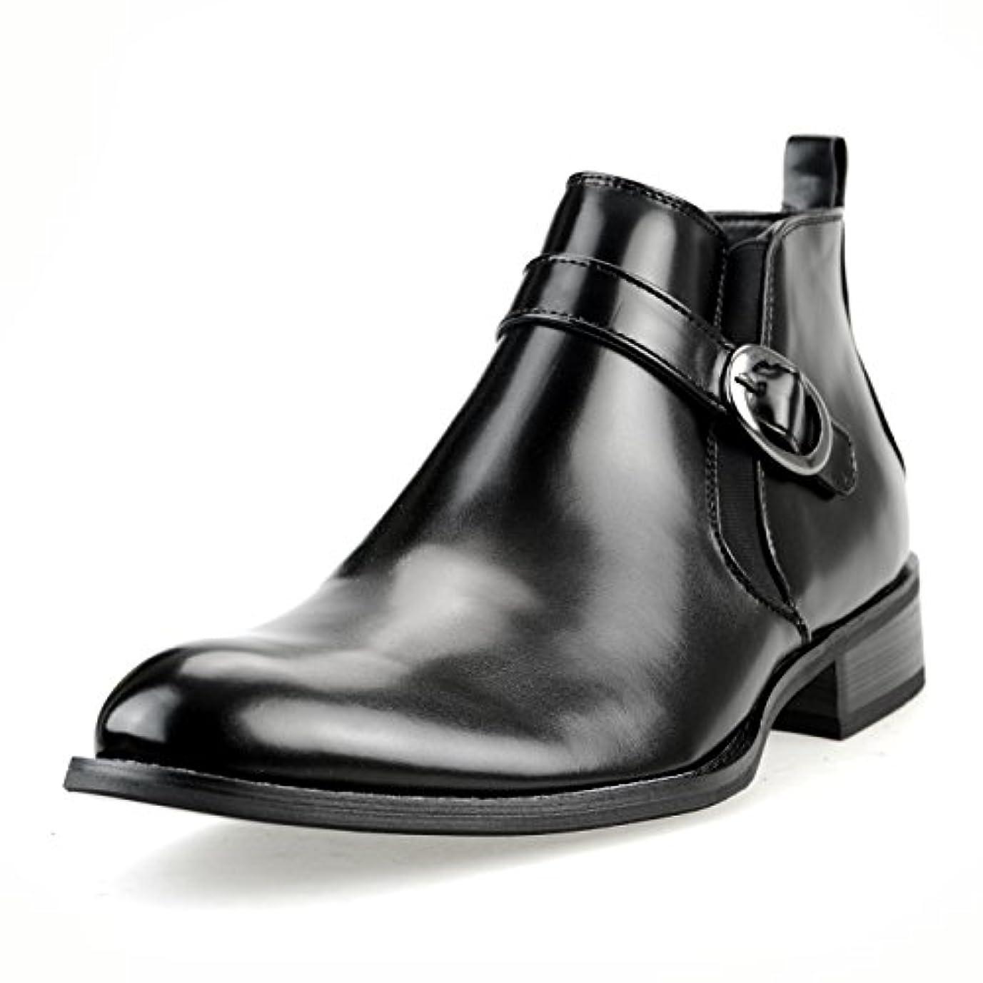 プリーツペッカディロ醜い【撥水加工 低反発インソール】[エムエムワン] MM/ONE ビジネスシューズ メンズ ショートブーツ ジョッパーブーツ ビジネスブーツ サイドジップ プレーントゥ 紳士靴 【MPB1911-1-UPP】 ブラック ダークブラウン