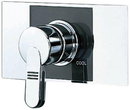 LIXIL(リクシル) INAX 浴室用 壁付 湯水混合栓 パブリック向け 埋込形シングルレバー混合水栓 ヴィラーゴシリーズ 呼び径13mm 下向吐水 BF-23S
