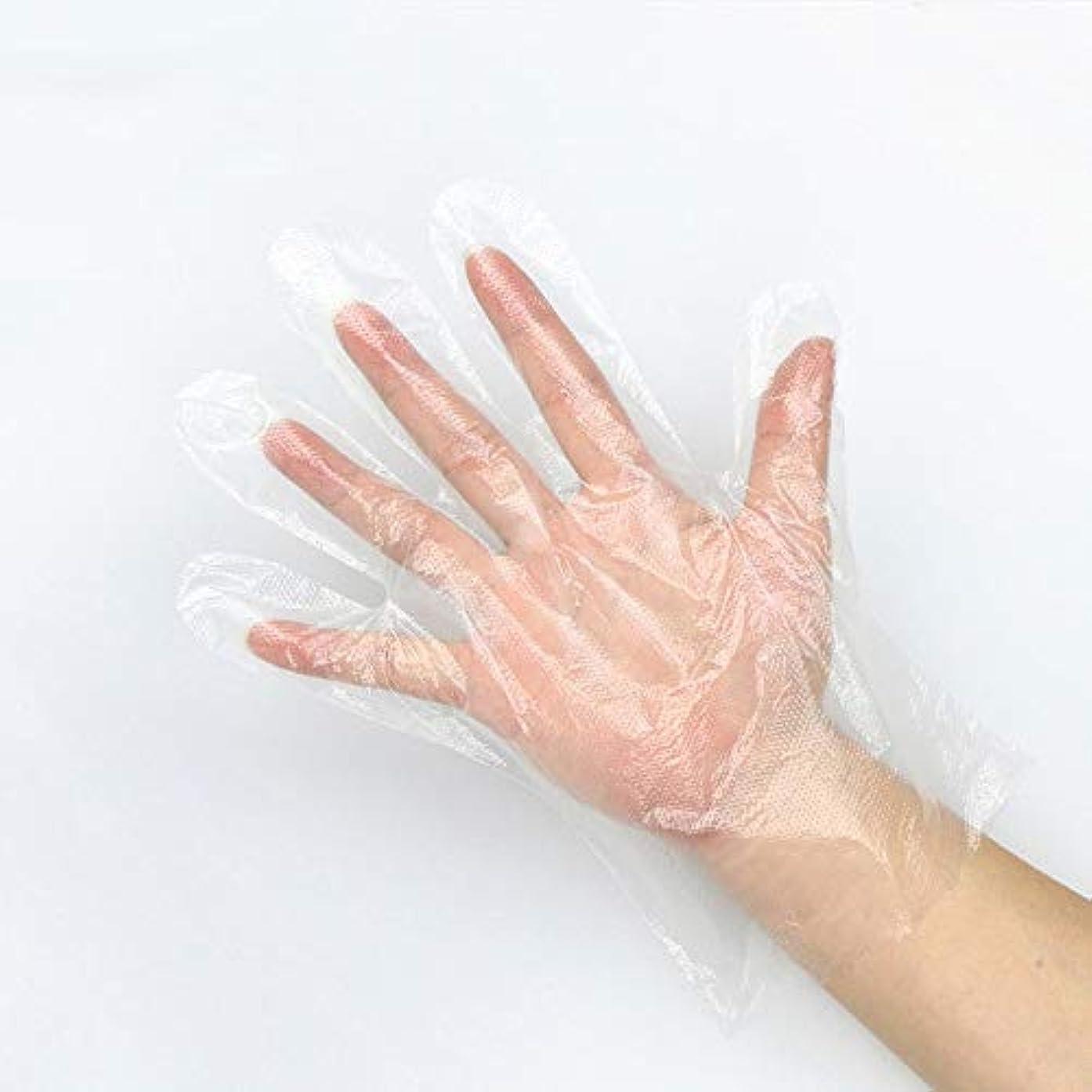 聴衆署名兵隊使い捨てのPEフィルム透明手袋1000のみ - 食品加工美容室キッチン調理健康診断用 YANW (色 : A, サイズ さいず : 0.9G)